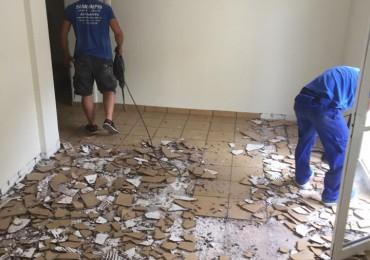 Ανακαίνιση δαπέδου - πλακιδίων σε κατοικία