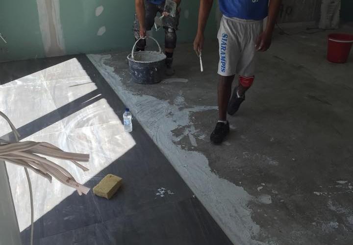 Τοποθετήσεις πλακιδίων μεγάλων διαστάσεων 120x60 - New Home Constructions