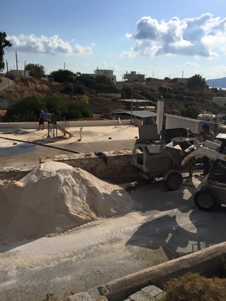 Μόνωση ταράτσας στην περιοχή Κερατέα, από το συνεργείο New Home Constructions