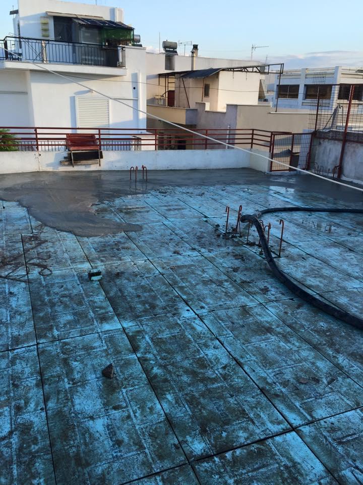 Μόνωση ταράτσας στους Αγίους Αναργύρους - New Home Constructions