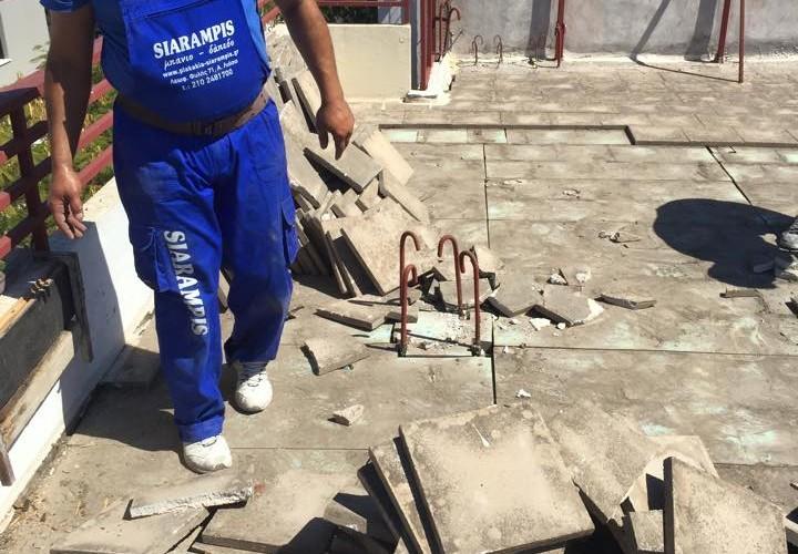 Μόνωση ταράτσας στους Αγίους Αναργύρους από τα συνέργια μας New Home Constructions