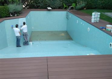 Φωτογραφίες από την Επισκευή πισίνας